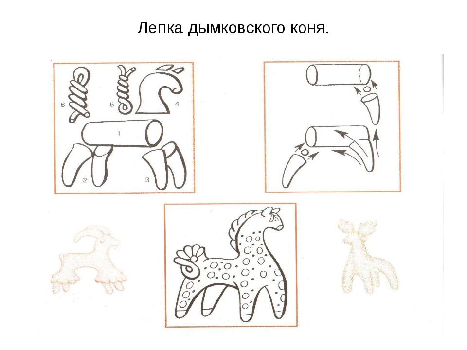 картинка олешек дымковская игрушка этапы лепки