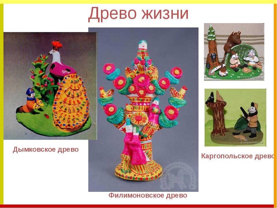 Древо жизни Дымковское древо Каргопольское древо Филимоновское древо