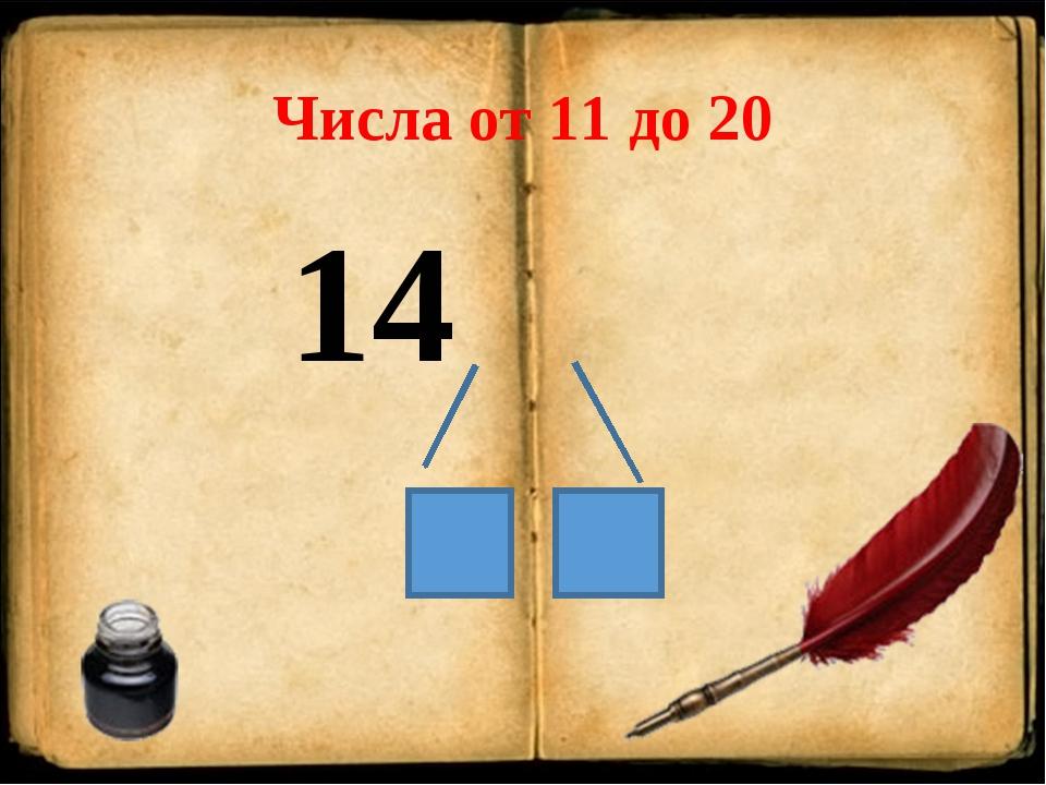 Числа от 11 до 20 14