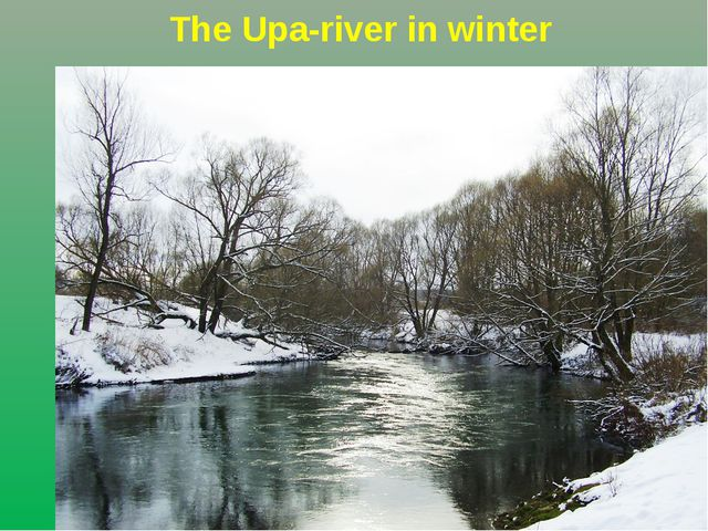 The Upa-river in winter