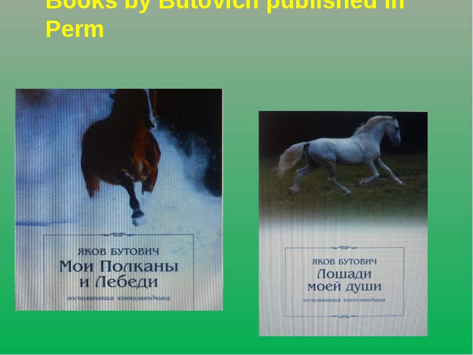 Books by Butovich published in Perm