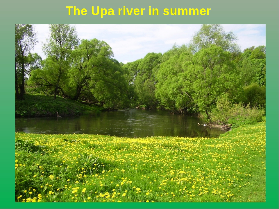 Тhe Upa river in summer