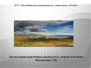 КГУ «Малоубинская средняя школа» мини-центр «Ручеёк» Животные степи Казахстан