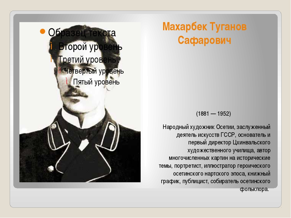 Махарбек Туганов Сафарович (1881 — 1952) Народный художник Осетии, заслуженн...