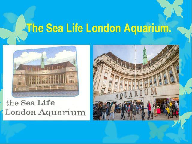 The Sea Life London Aquarium.