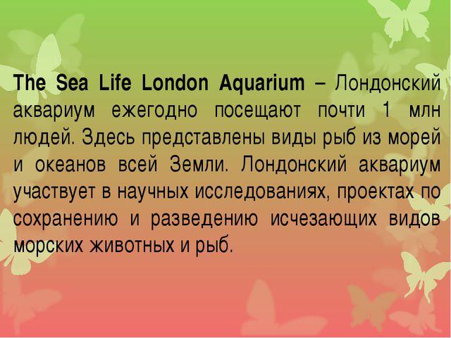 The Sea Life London Aquarium – Лондонский аквариум ежегодно посещают почти 1...