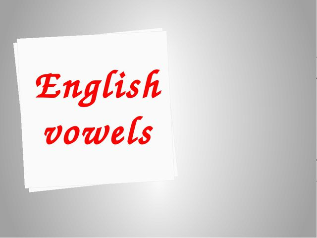 В открытом типе слога гласные буквы читаются так, как они называются в алфави...
