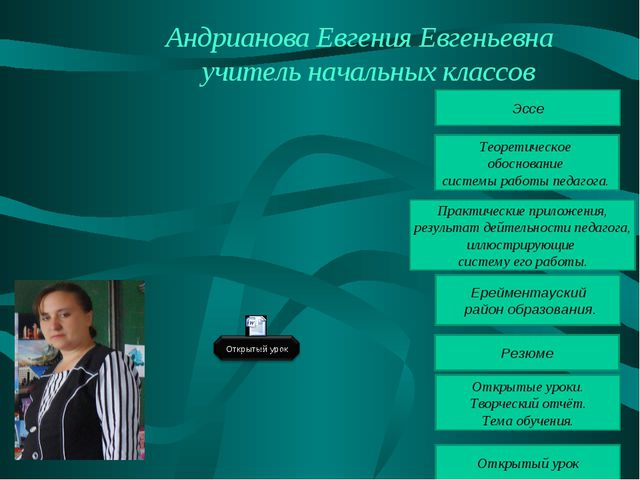 Андрианова Евгения Евгеньевна учитель начальных классов Ерейментауский район...