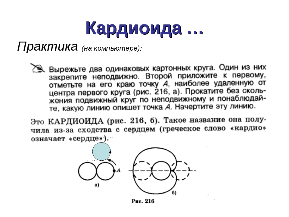 Кардиоида … Практика (на компьютере):