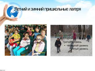 Летний и зимний пришкольные лагеря