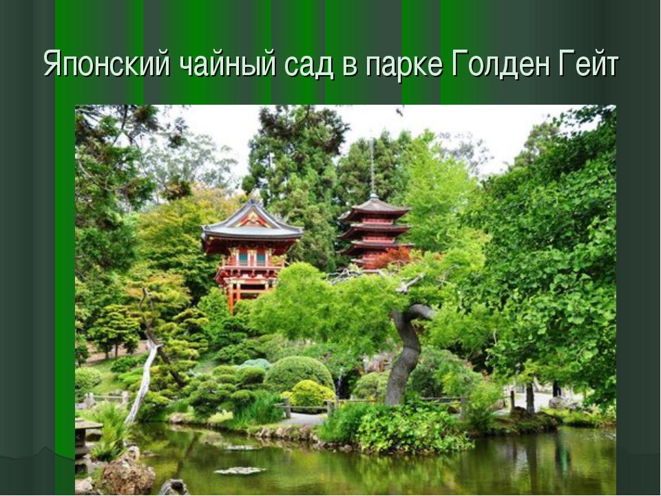 Японский чайный сад в парке Голден Гейт