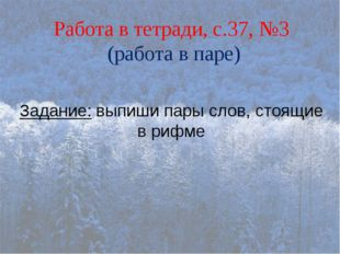 СЛОВАРНАЯ РАЗМИНКА Пороша – первый снег Шаль- большой платок Клюка- изогнутая