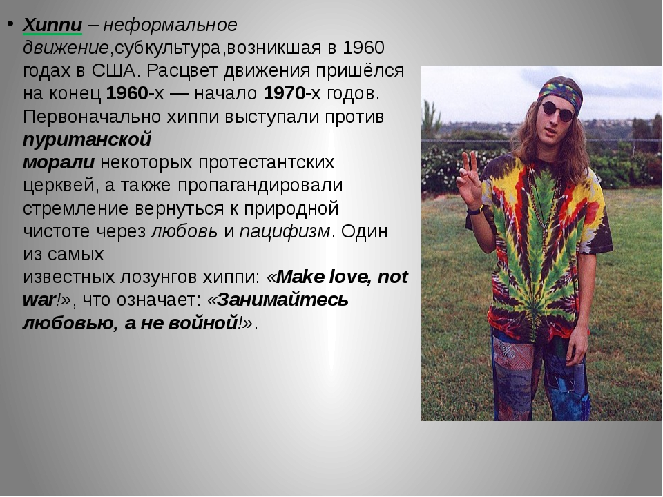 hippie movement essay example The hippie movement of the 1960's essay example 646 words | 3 pages the hippie subculture was originally a youth movement beginning in the united states around the early 1960s and consisted of a group of people who opposed political and social orthodoxy, choosing an ideology that favored peace, love, and personal freedom.