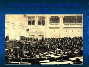 Заседание первой Государственной Думы.