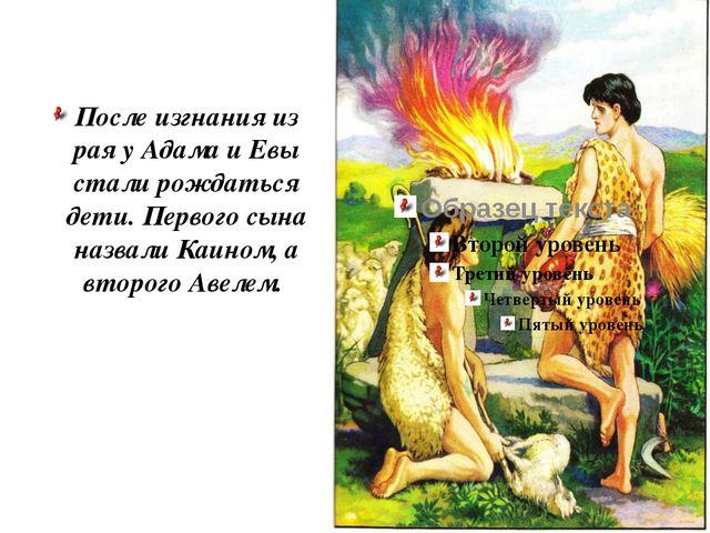 После изгнания из рая у Адама и Евы стали рождаться дети. Первого сына назвал...