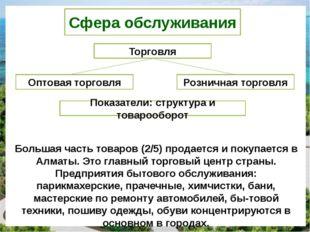 Сфера обслуживания Торговля Оптовая торговля Розничная торговля Показатели: с