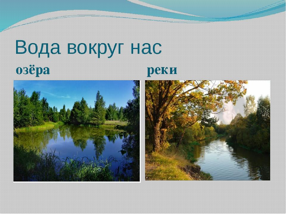 Вода вокруг нас озёра реки