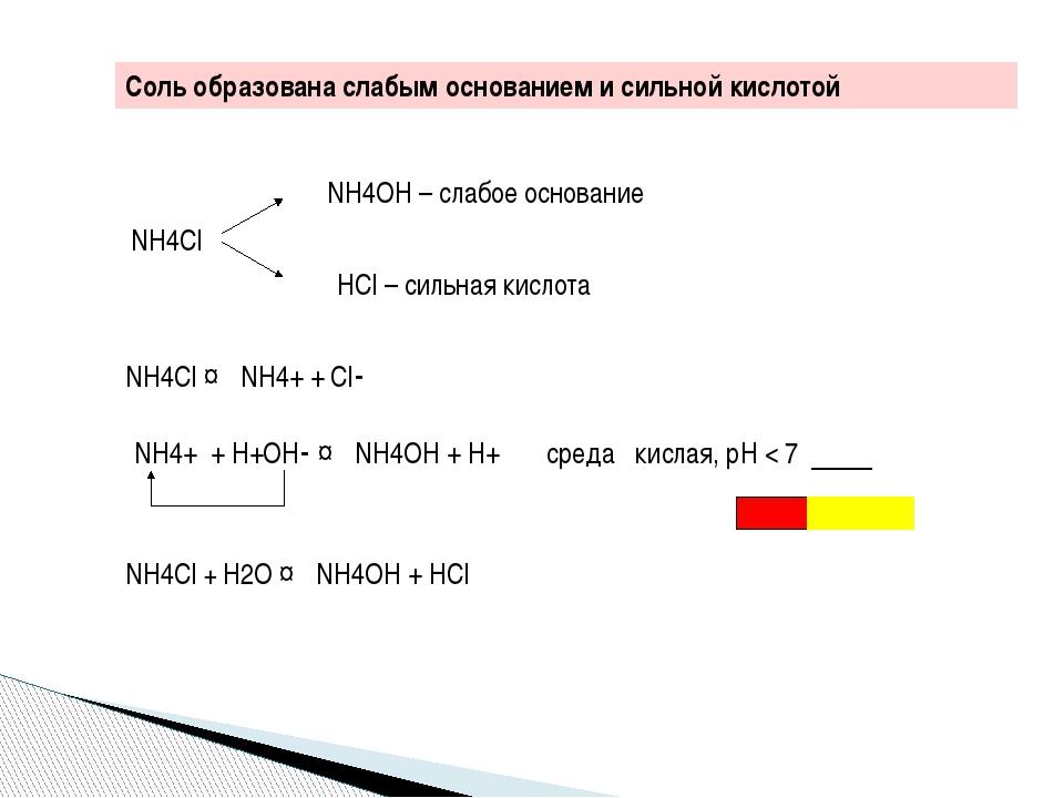 Zn(NO3)2 ↔ Zn2+ + 2NO3- Zn2+ + Н+ОН- ↔ ZnОН+ + Н+ кислая среда, рН < 7 Zn(NO...