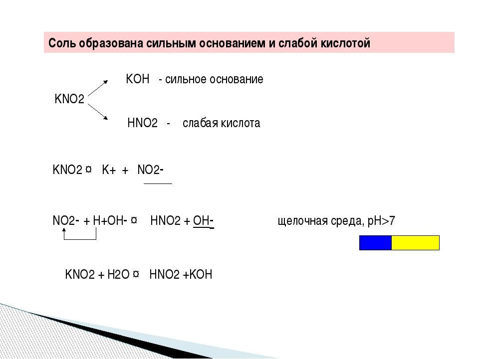 Соль образована сильным основанием и слабой кислотой Na2S NaOH - сильное осн...