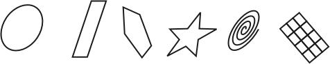 Ихменение формы графических примитивов с помощью мыши