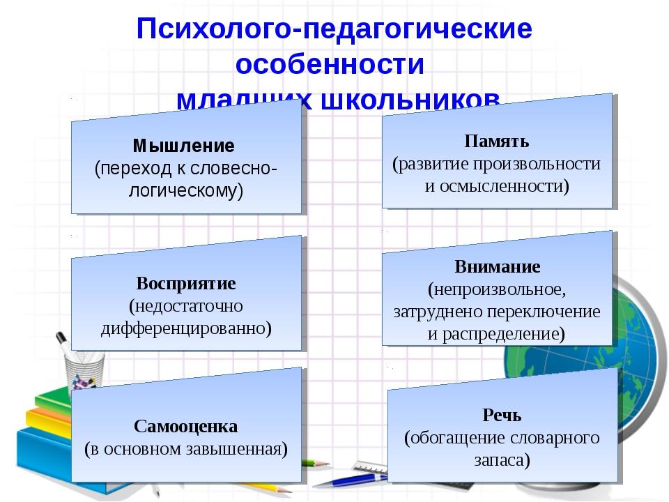 Психолого-педагогические особенности младших школьников Мышление (переход к с...