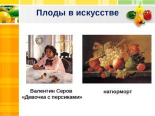 Плоды в искусстве Валентин Серов «Девочка с персиками» натюрморт