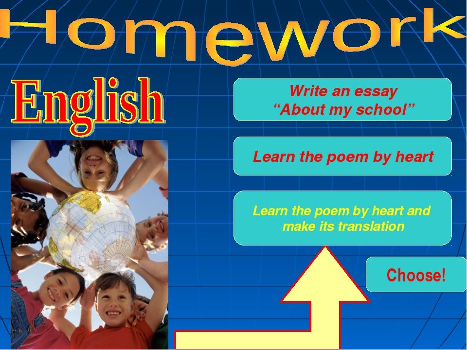 Learn the poem by heart Learn the poem by heart and make its translation Choo...