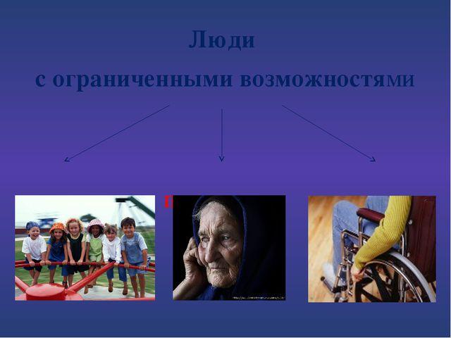 Люди с ограниченными возможностями Дети Пенсионеры Инвалиды