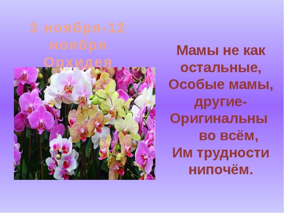Мамы не как остальные, Особые мамы, другие- Оригинальны во всём, Им трудности...