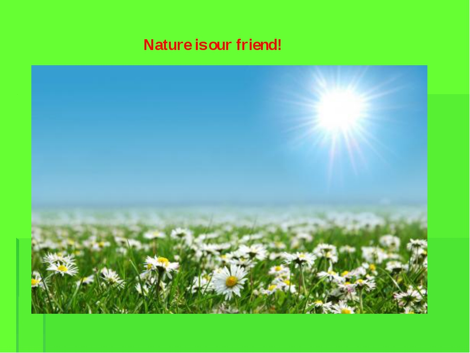 Nature is our friend!