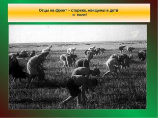 Отцы на фронт – старики, женщины и дети в поле!