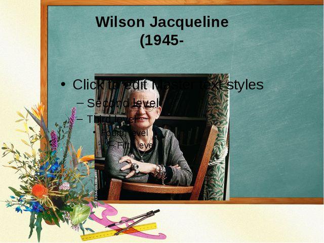 Wilson Jacqueline (1945-