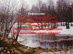 Рефлексия: - Чем вам понравился урок? - Что вы узнали о творчестве Плещеева?