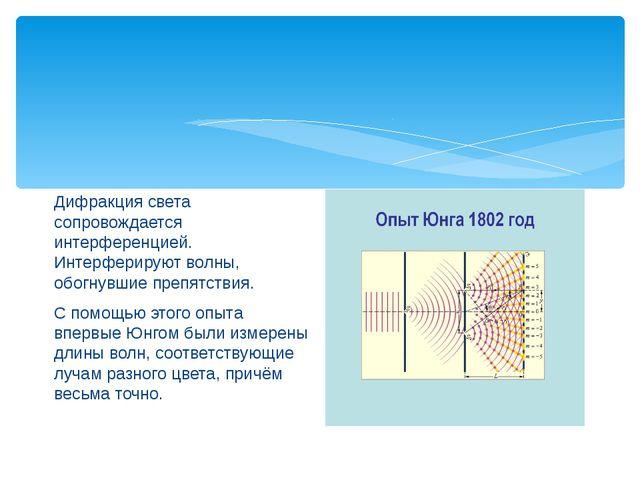 Дифракция света сопровождается интерференцией. Интерферируют волны, обогнувш...