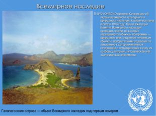 В 1972 ЮНЕСКО приняла Конвенцию об охране всемирного культурного и природного