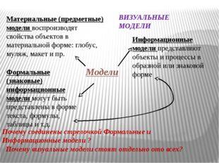 Формальные (знаковые) информационные модели могут быть представлены в форме
