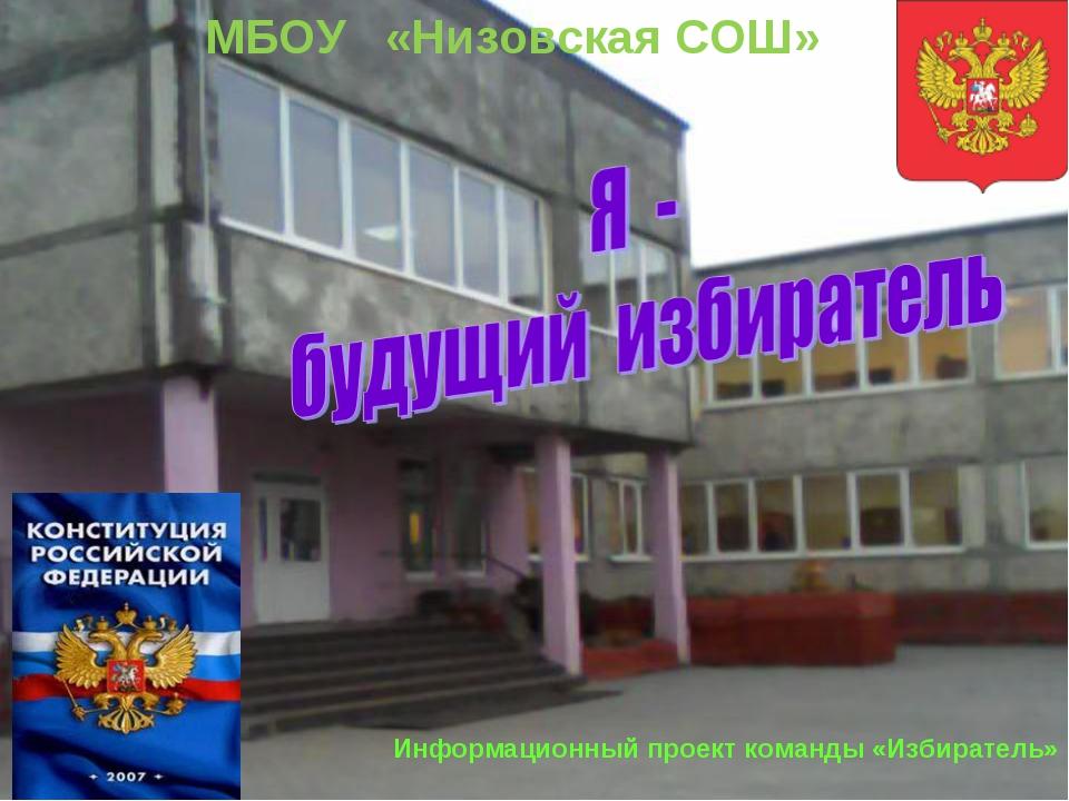 Информационный проект команды «Избиратель» МБОУ «Низовская СОШ»