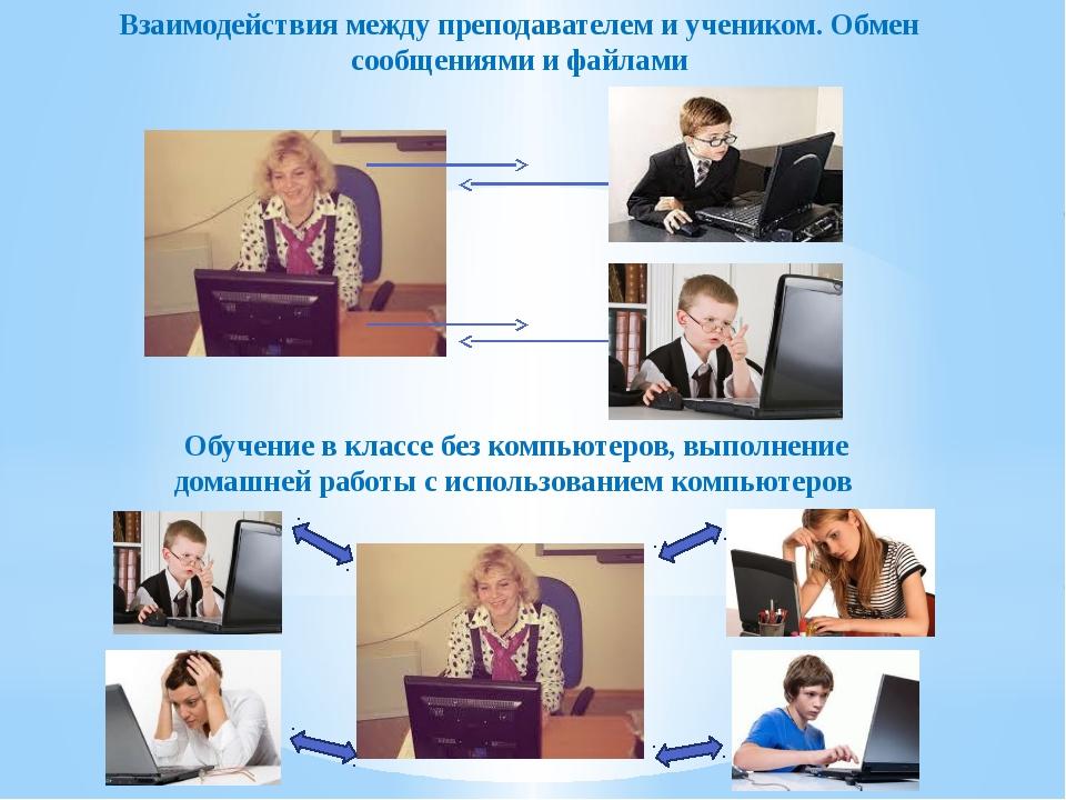 Взаимодействия между преподавателем и учеником. Обмен сообщениями и файлами О...
