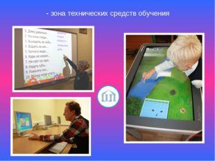 - зона технических средств обучения