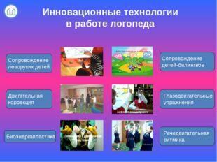 Инновационные технологии в работе логопеда Сопровождение леворуких детей Дви