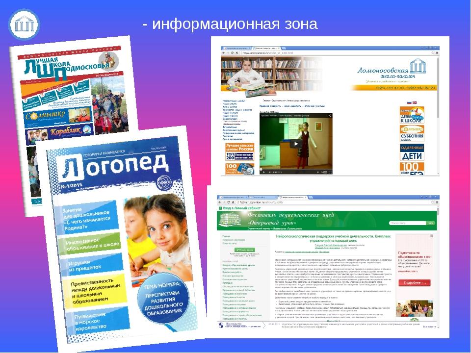 - информационная зона