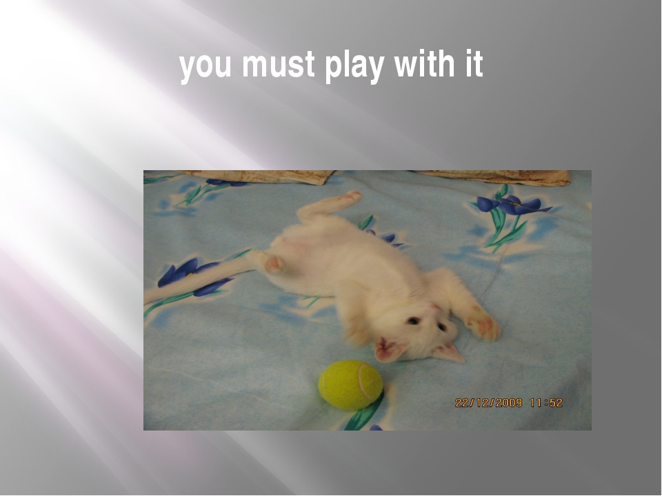 you must play with it