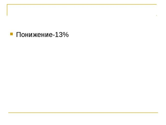 Понижение-13%