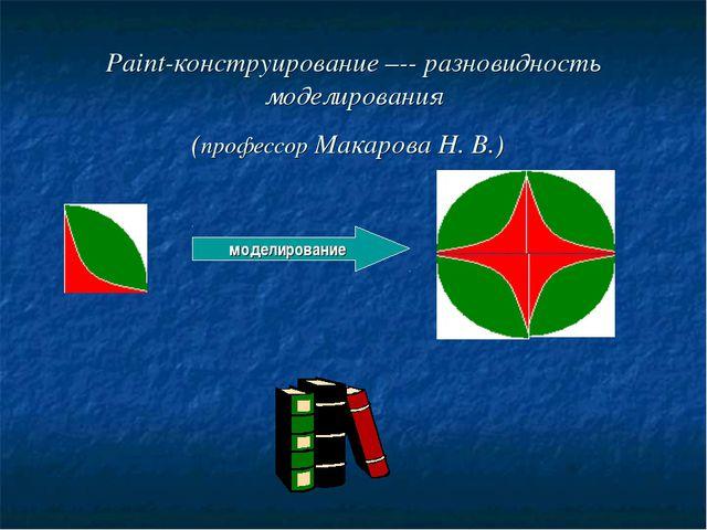 Paint-конструирование –-- разновидность моделирования (профессор Макарова Н....