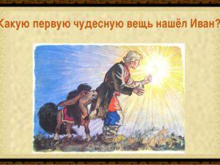 Перо Жар-птицы Какую первую чудесную вещь нашёл Иван?