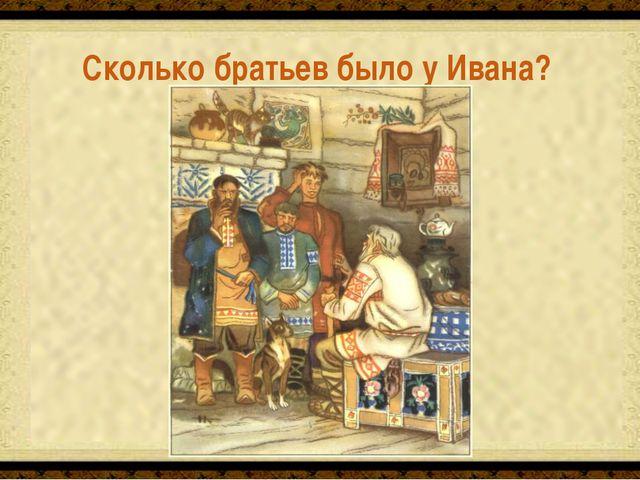 Сколько братьев было у Ивана? Два