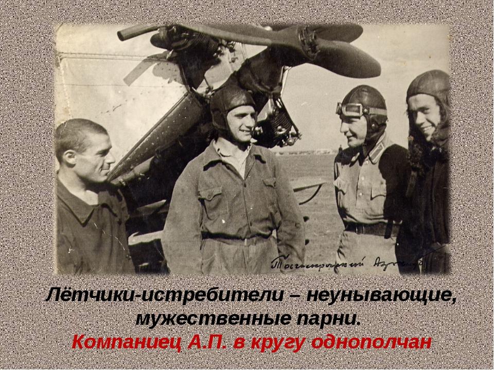 Лётчики-истребители – неунывающие, мужественные парни. Компаниец А.П. в кругу...