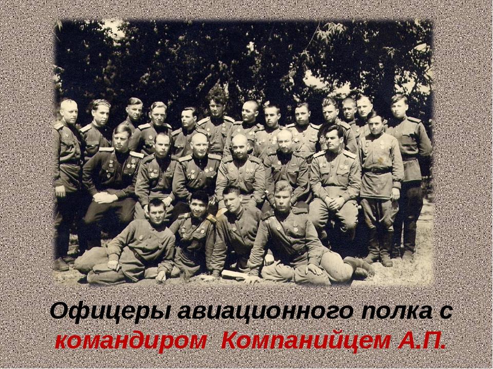 Офицеры авиационного полка с командиром Компанийцем А.П.