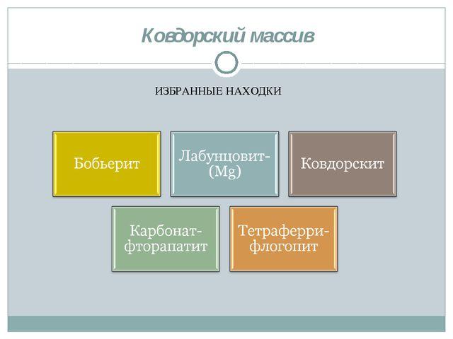 Ковдорский массив ИЗБРАННЫЕ НАХОДКИ