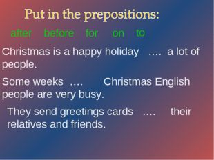 Christmas is a happy holiday …. a lot of people. Some weeks …. Christmas Engl